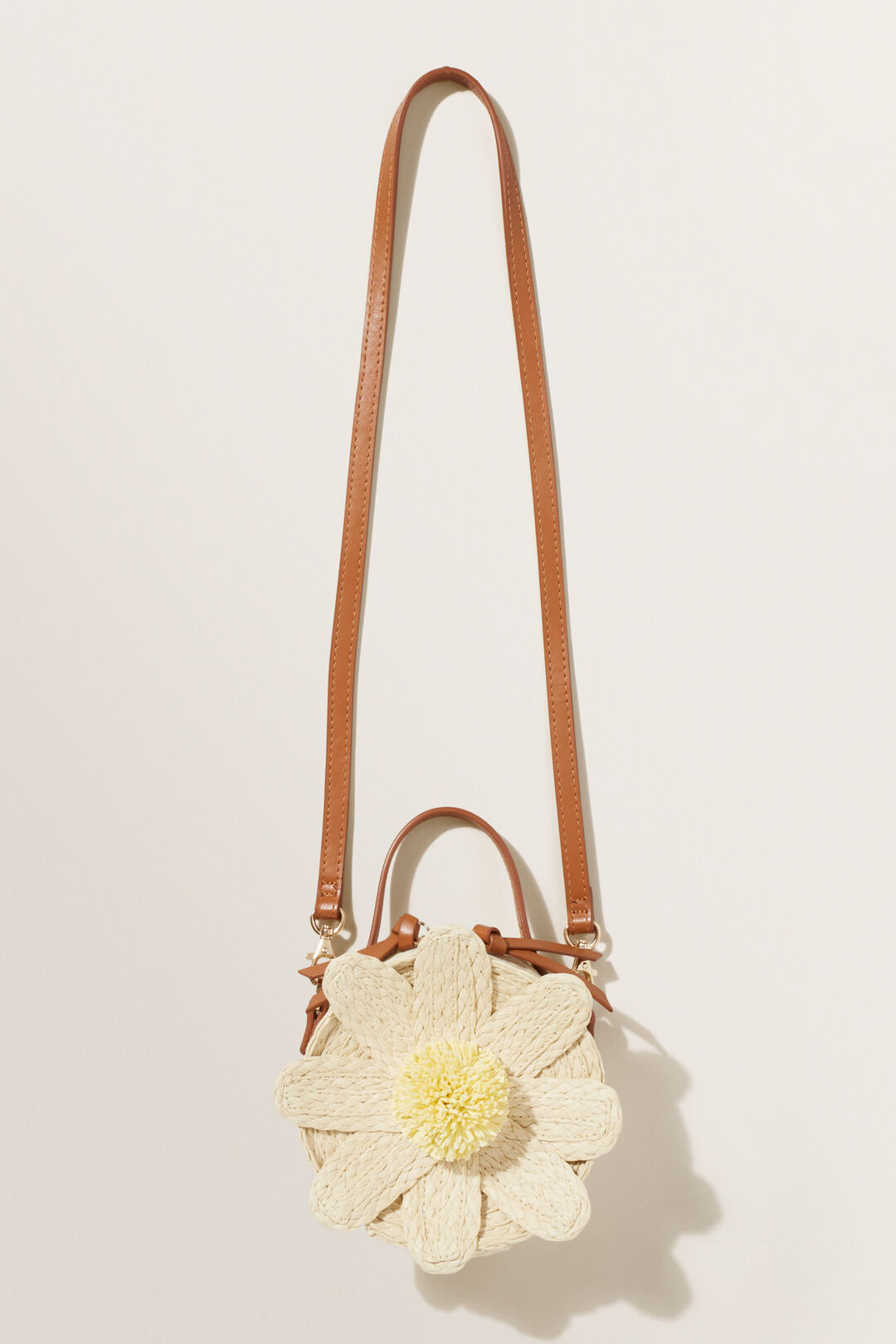 Daisy Paper Straw Bag  Natural  hi-res