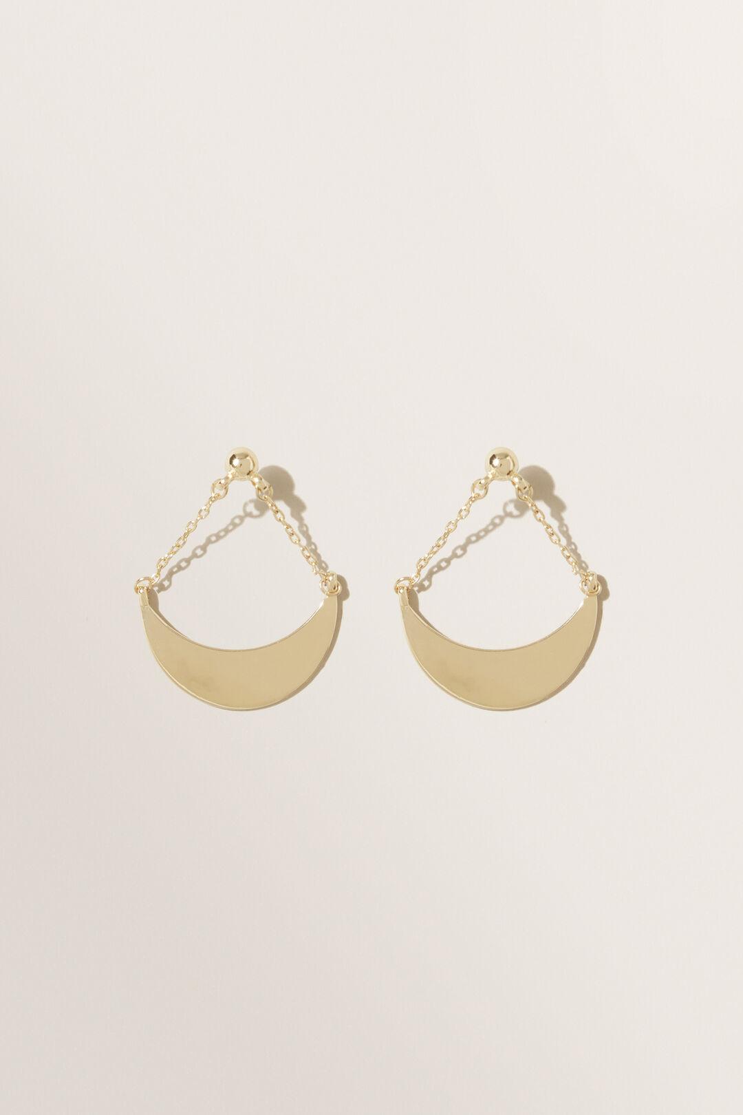 Chain Swing Earrings  Gold  hi-res