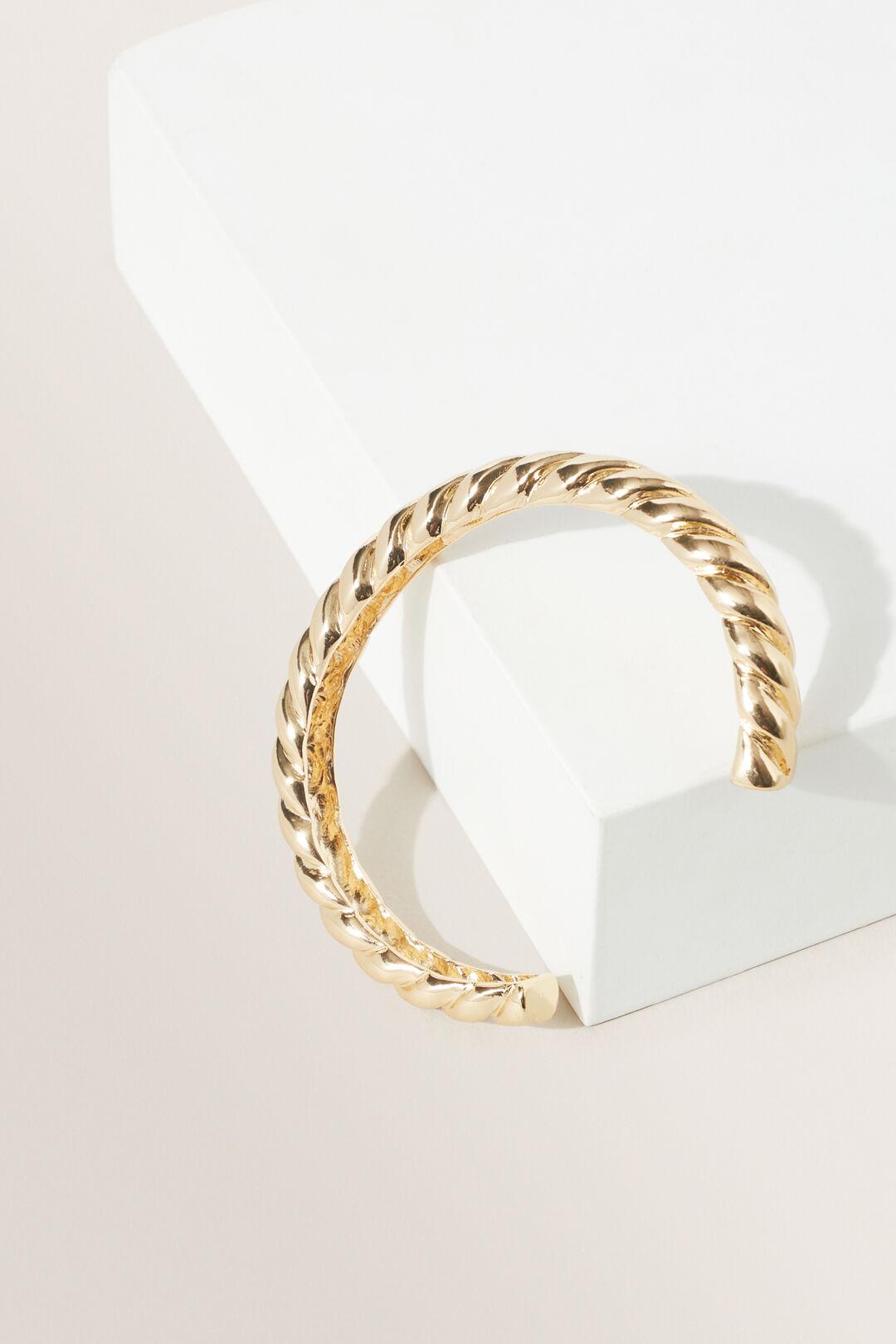 Twisted Cuff  Gold  hi-res