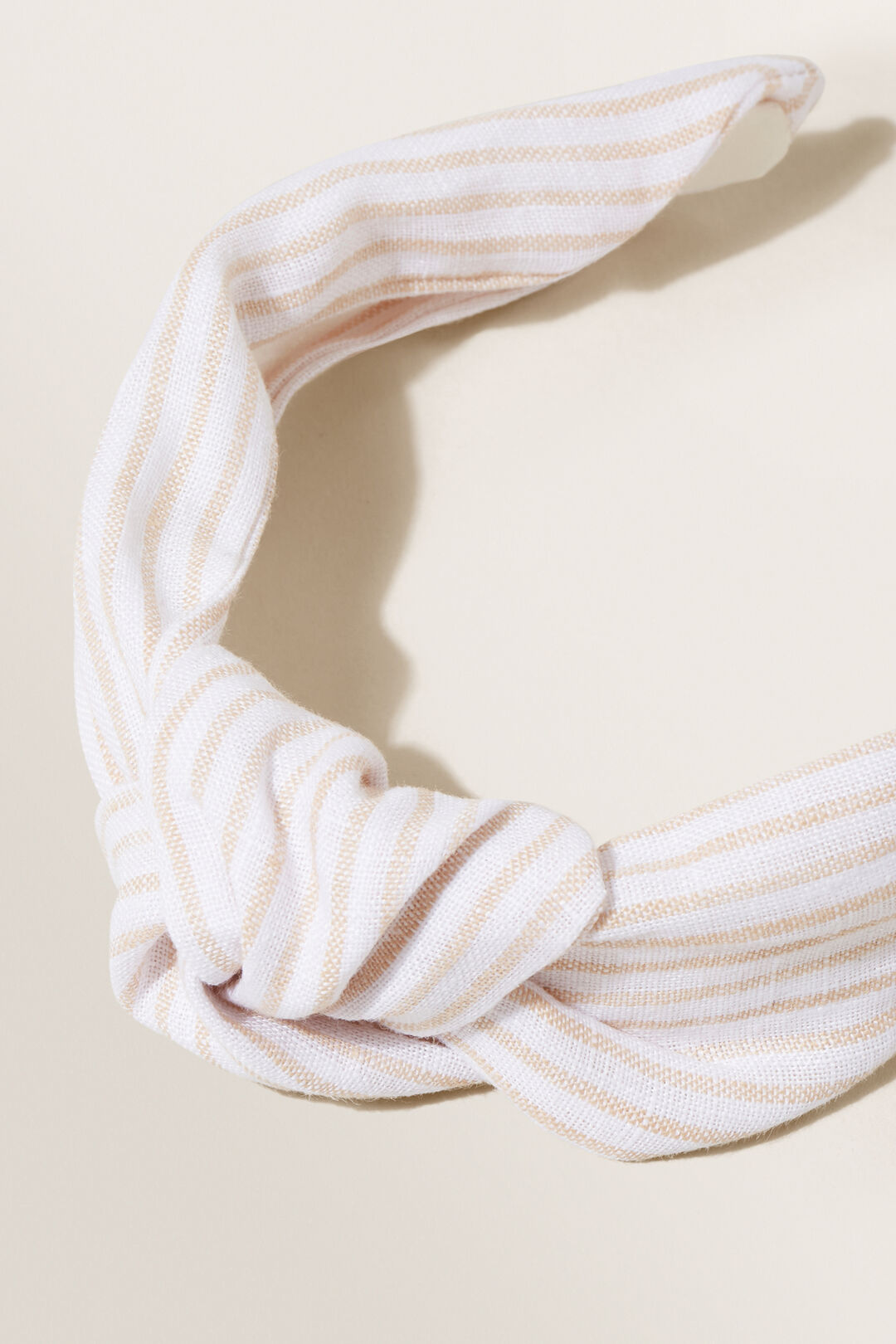 Linen Headband  Neutral Sand Stripe  hi-res