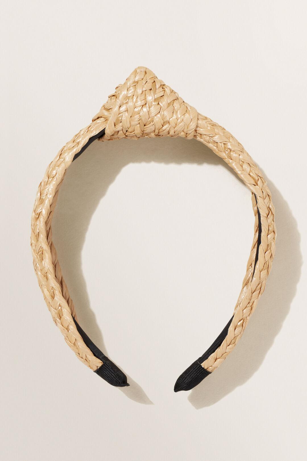 Woven Knot Headband  Natural  hi-res