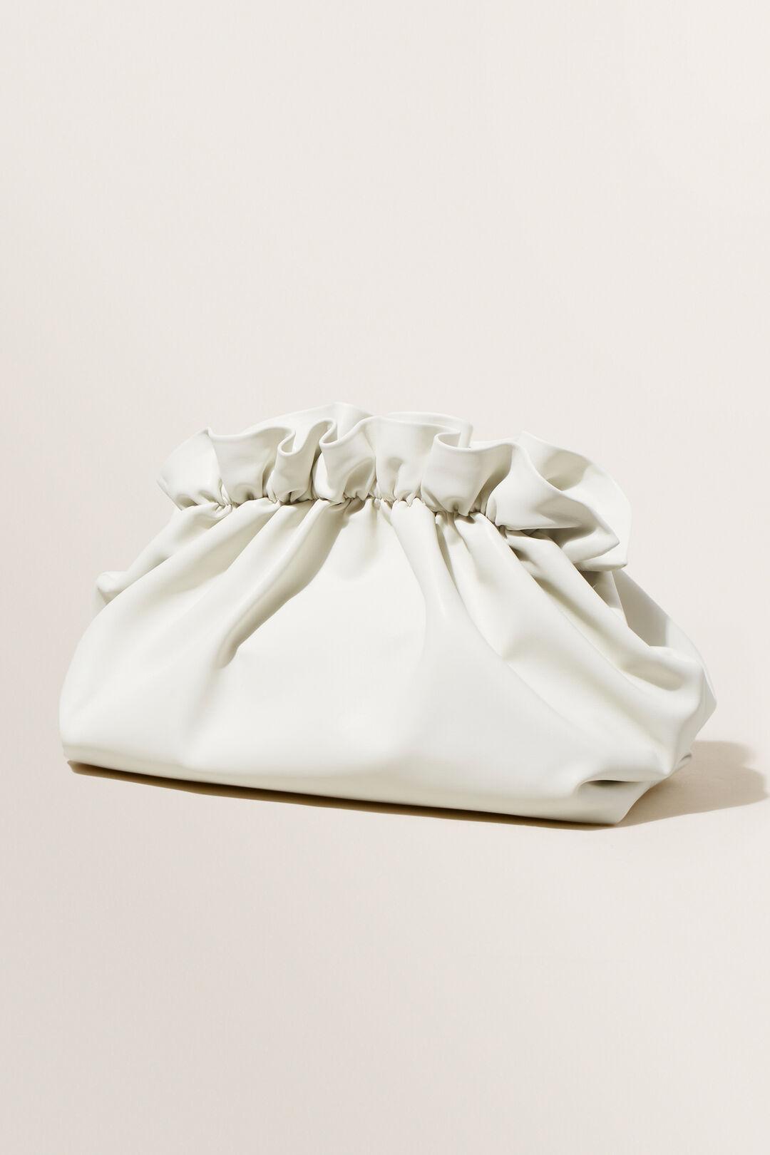 Gathered Clutch  Cloud Cream  hi-res