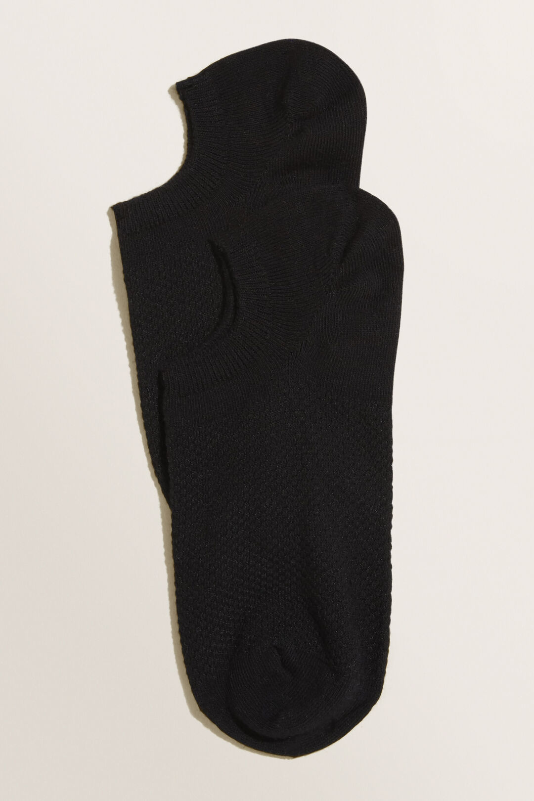 Textured Sneaker Sock  Black  hi-res