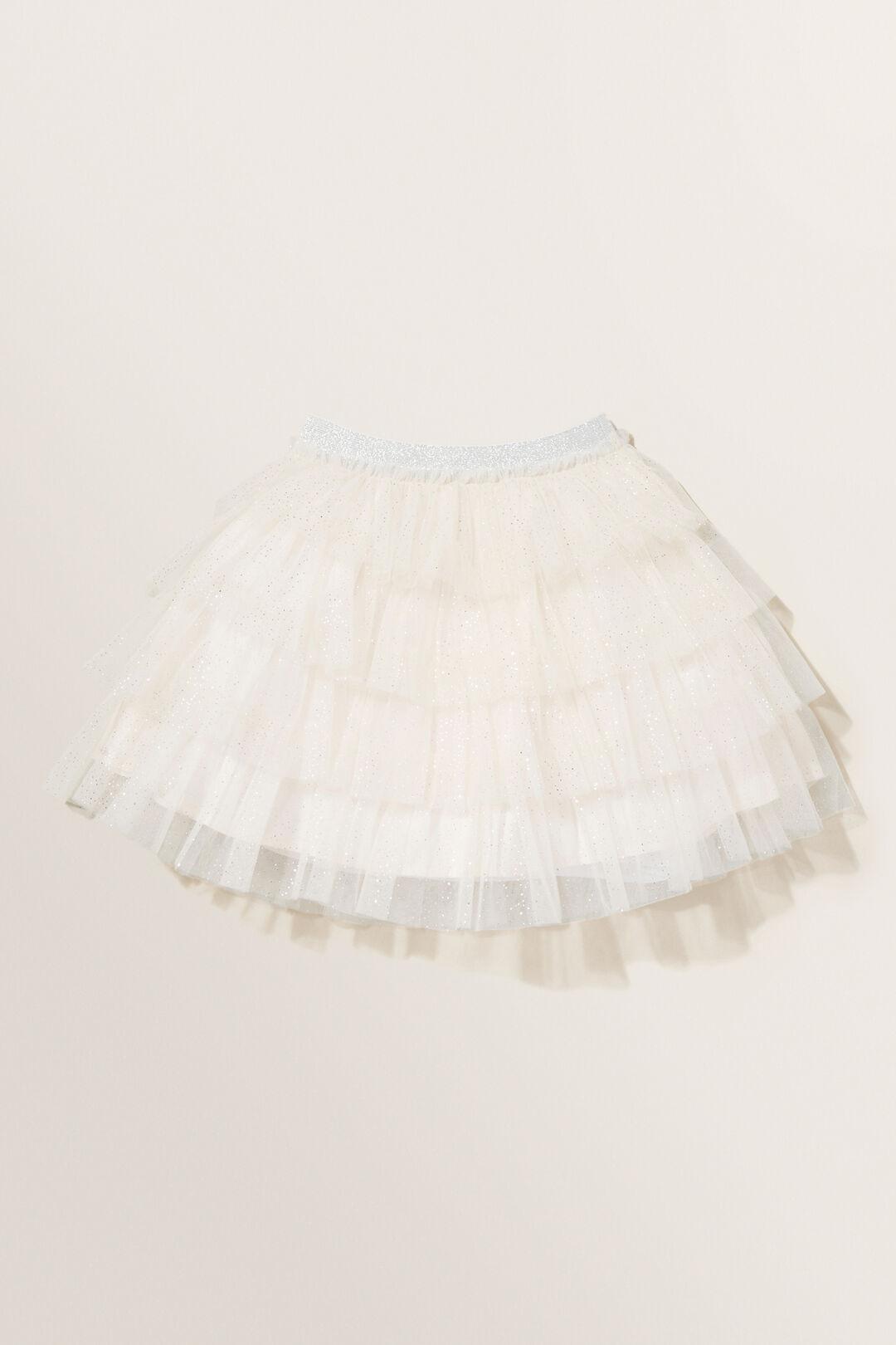 Glitter Tutu Skirt  Creme  hi-res