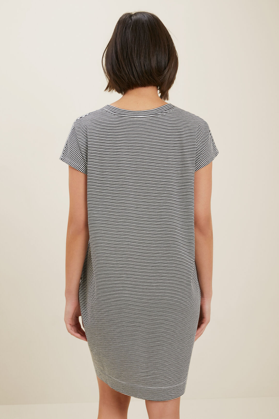 Tee Dress  Mono Stripe  hi-res