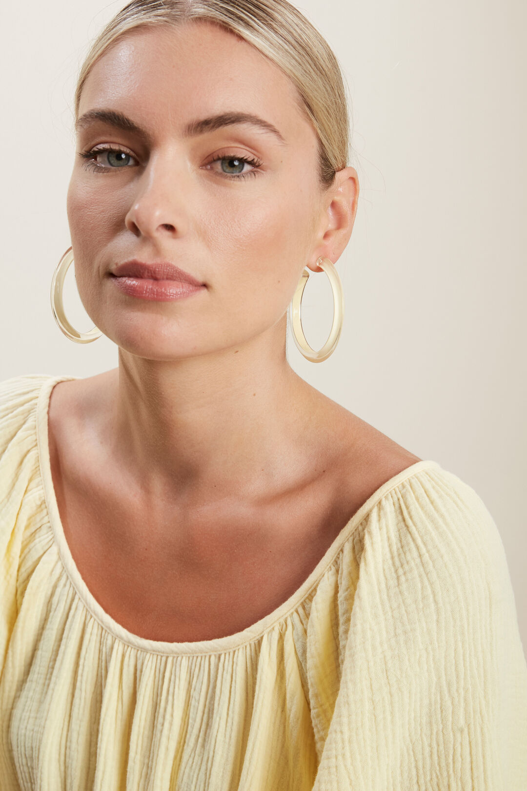 Large Hoops  Limocello  hi-res