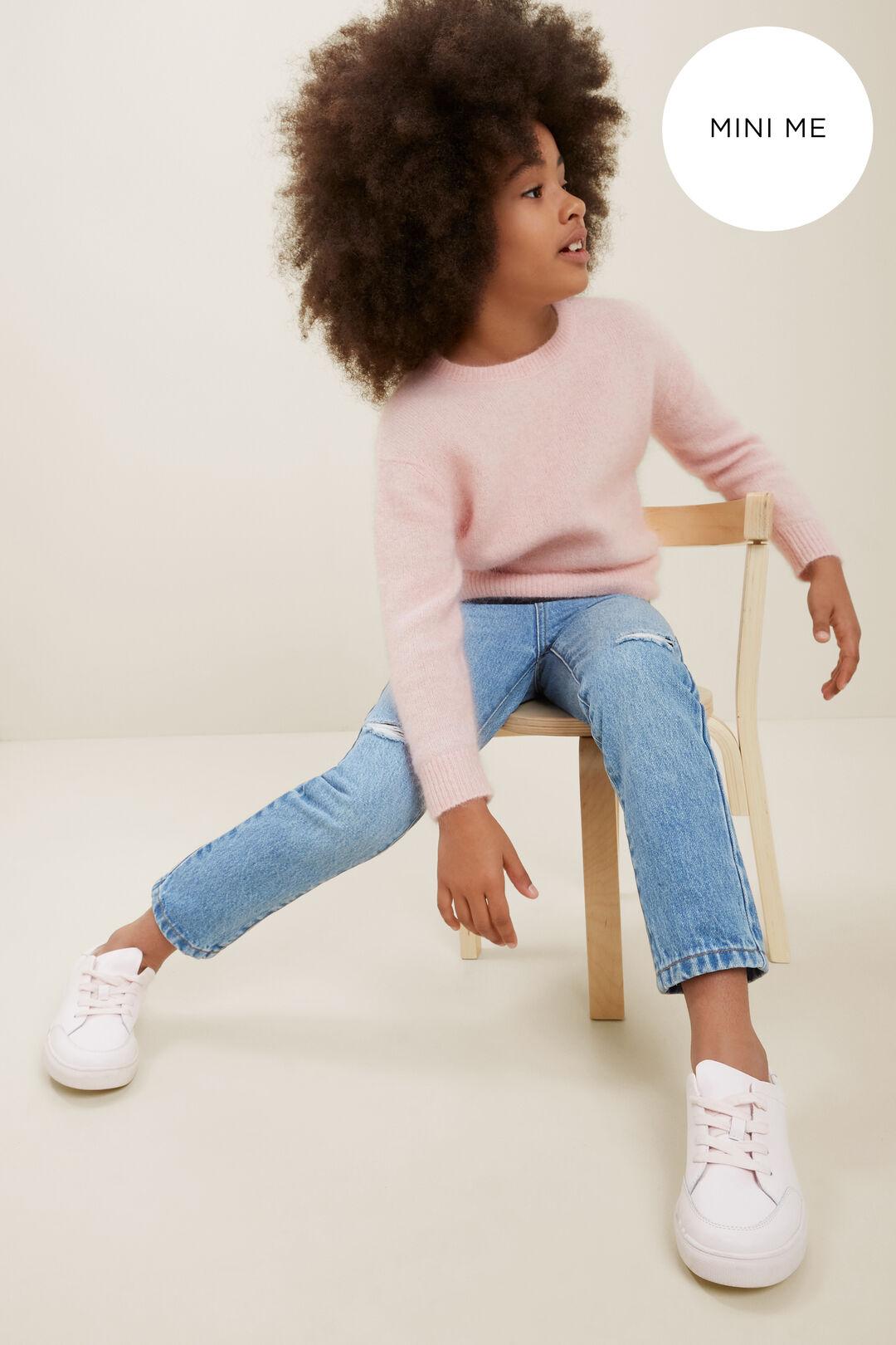 Mini Me Mohair Crew Neck Sweater  Ash Pink Marle  hi-res