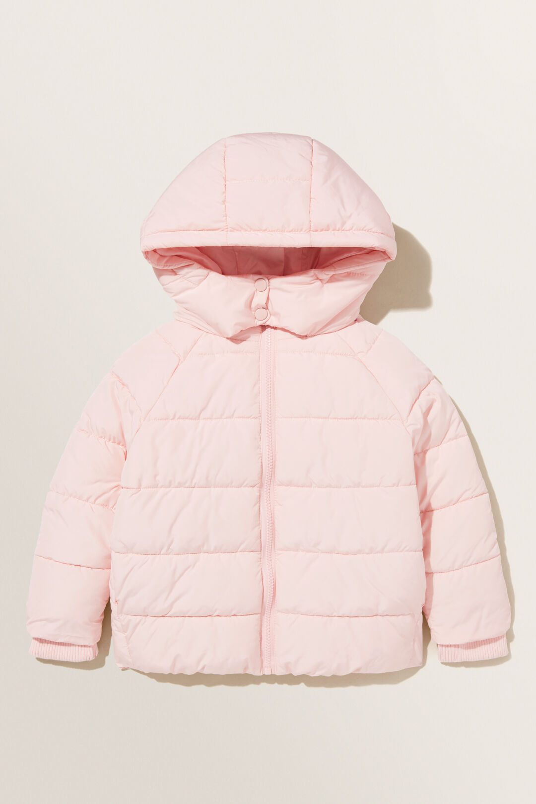 Sporty Puffer Jacket  Dusty Rose  hi-res