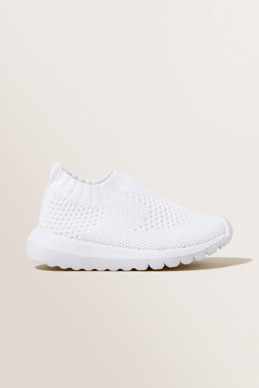 Knit Sneaker  White  hi-res