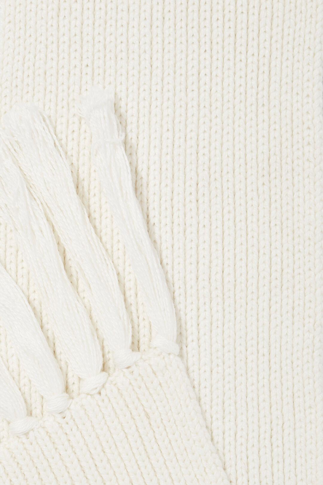 Rib Knit Scarf  Cloud Cream  hi-res