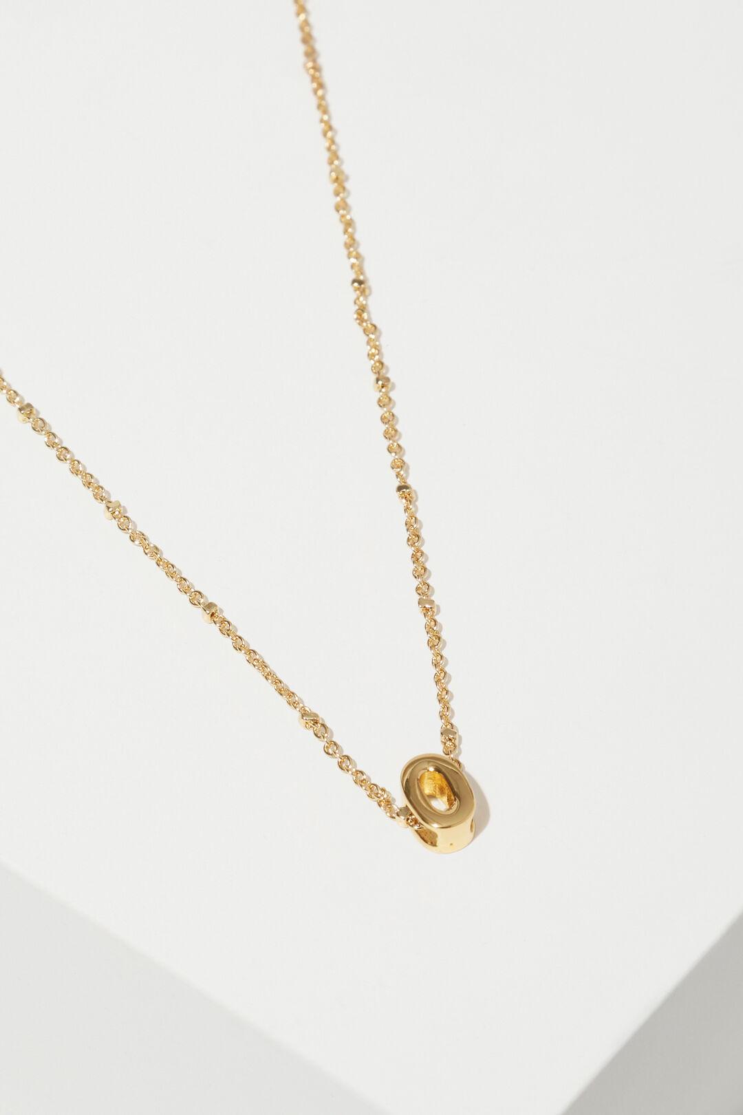 Gold Initial Charm  O  hi-res