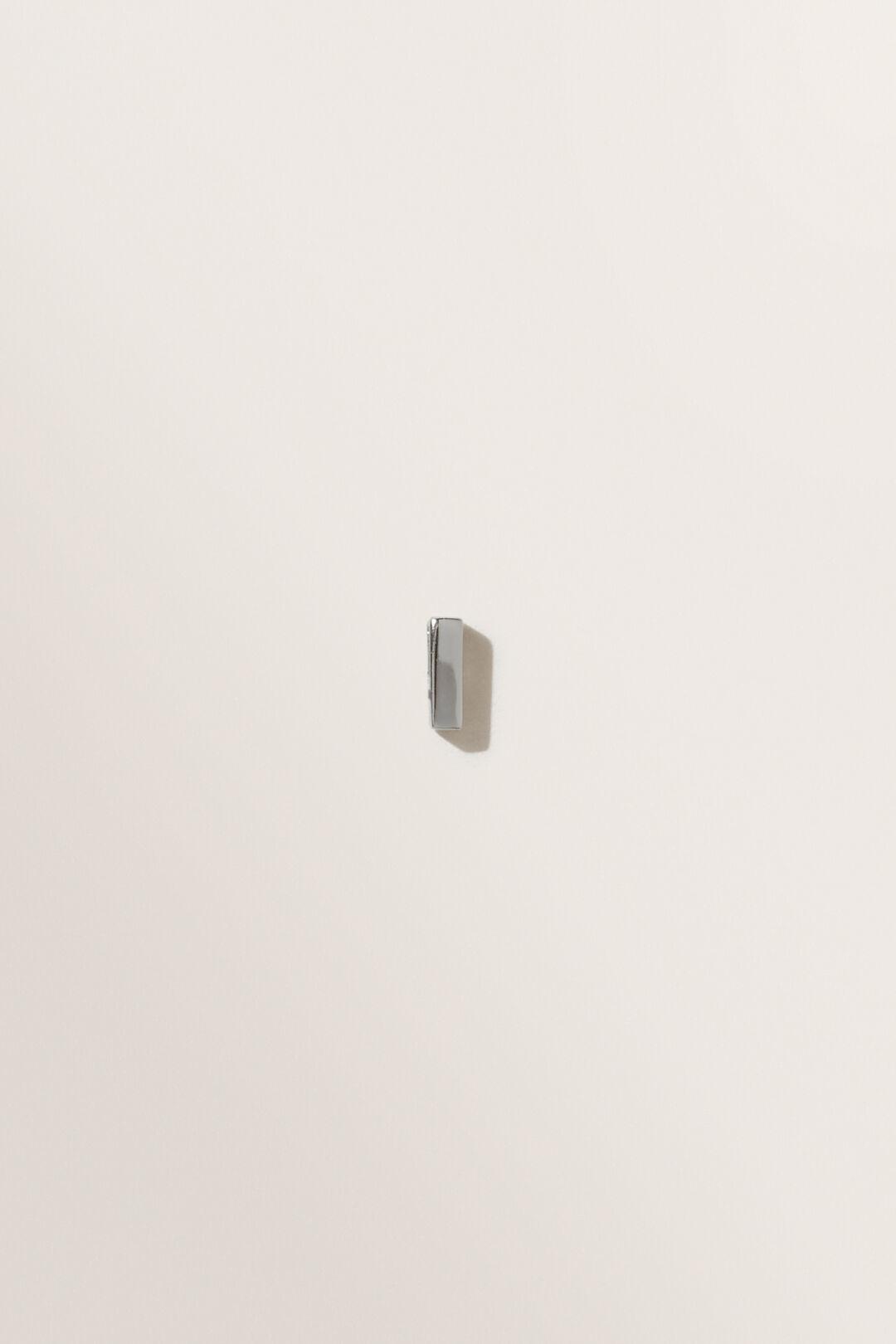 Silver Initial Charm  I  hi-res