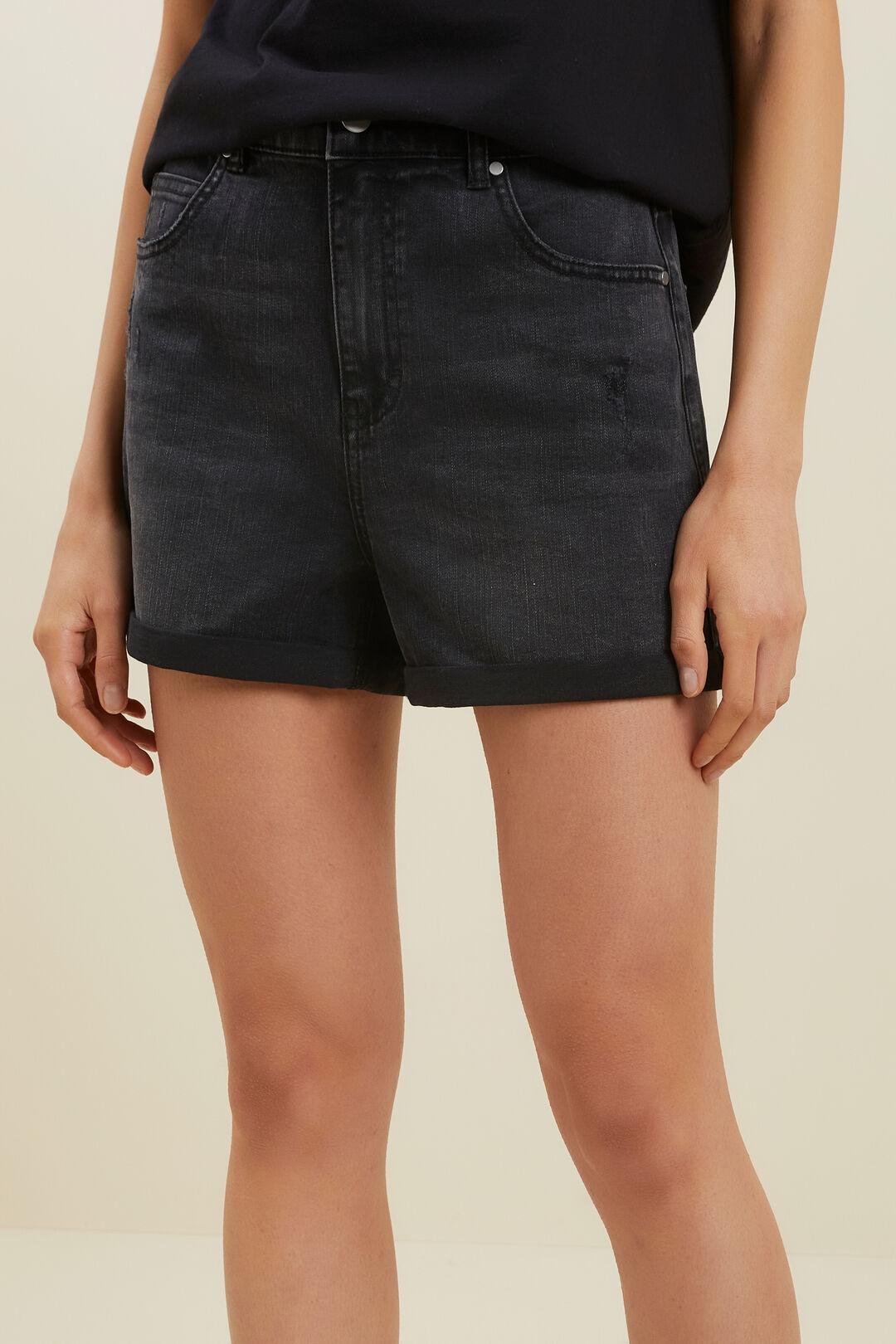 Denim Shorts  Washed Black  hi-res