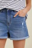 Denim Shorts  Mid Wash  hi-res