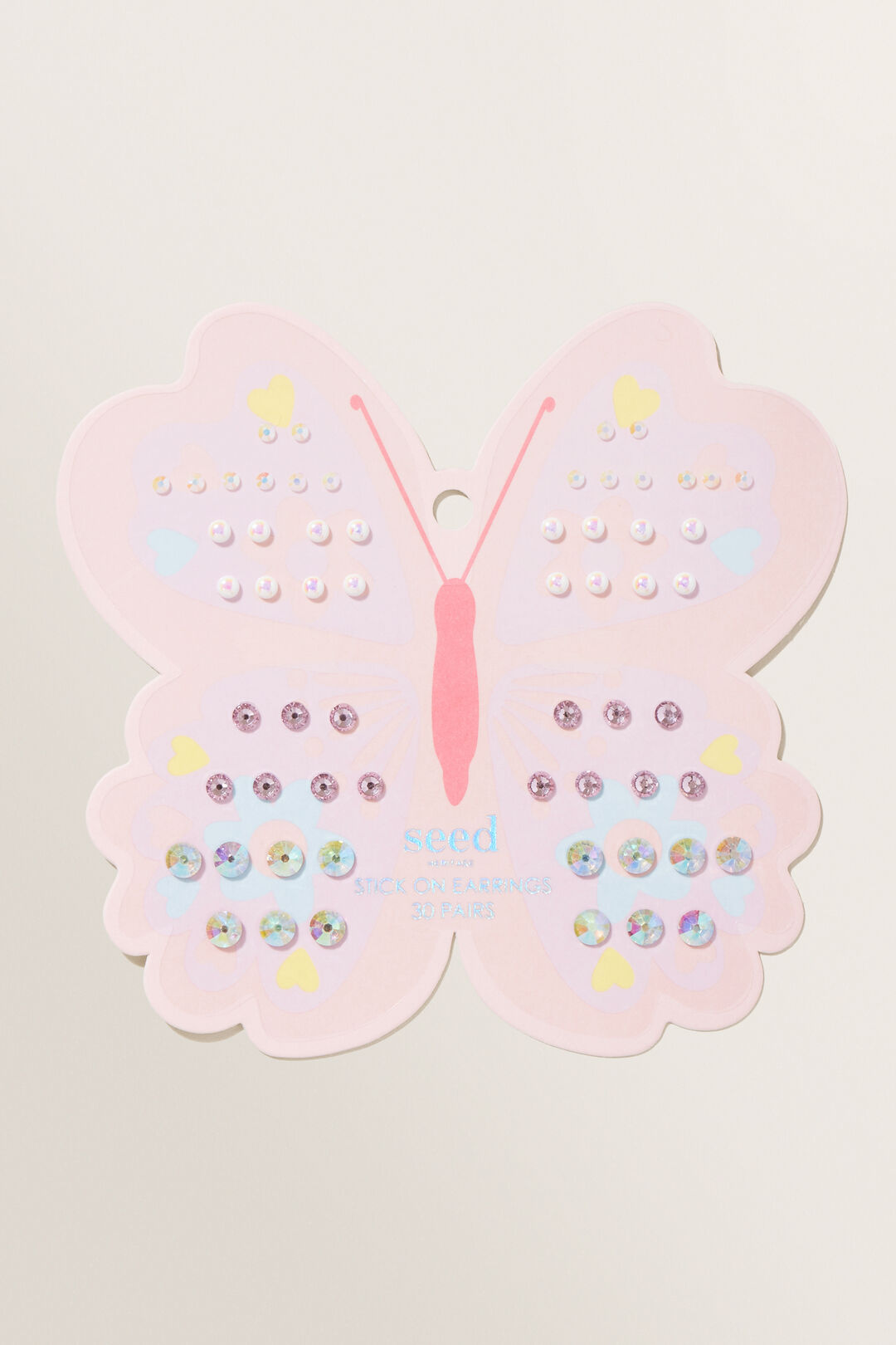 Butterfly Stick On Earrings  Multi  hi-res