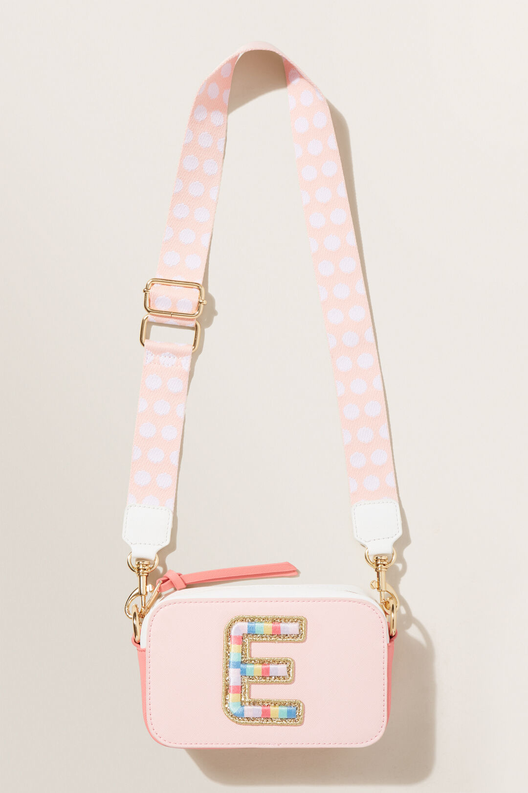 Rainbow Initial Bag  E  hi-res