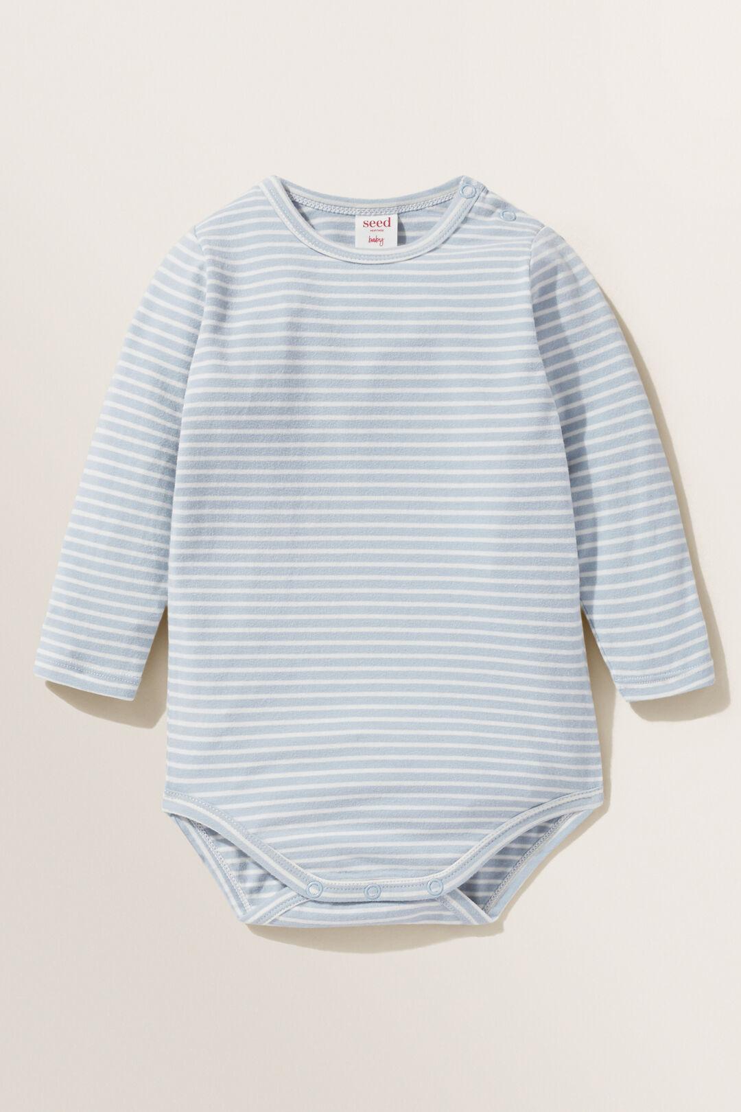 Stripe Bodysuit  Tide Blue  hi-res