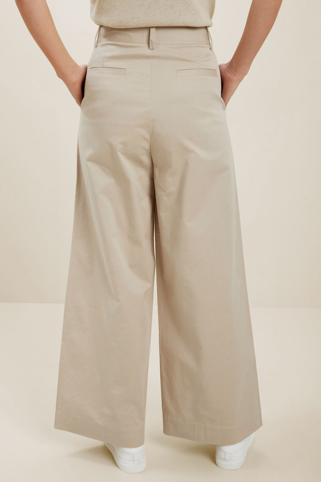Tailored Wide Leg Pant  Neutral Blush  hi-res
