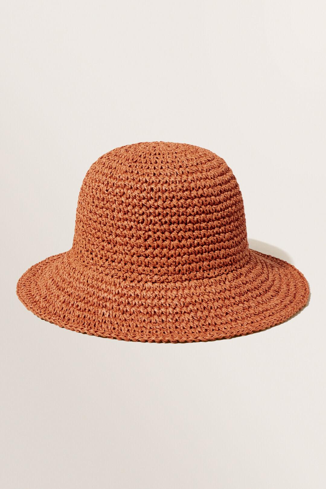 Ava Bucket Hat  Earth Red  hi-res