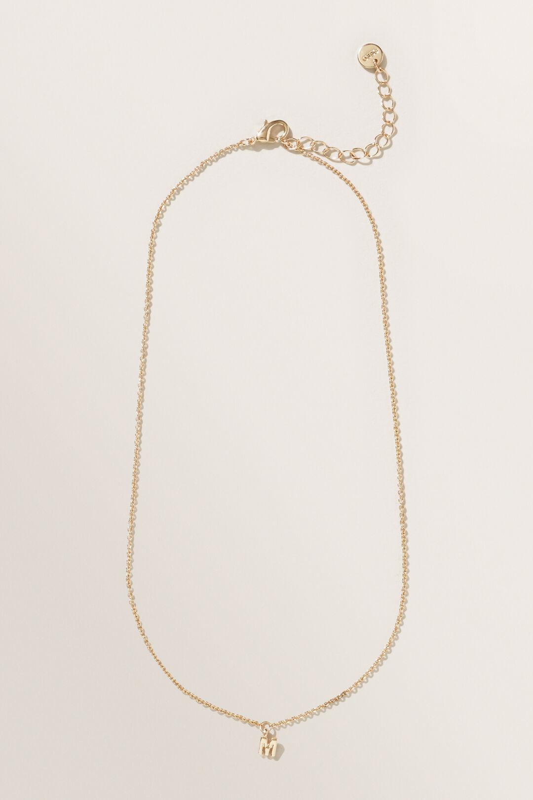 Initial Necklace  M  hi-res