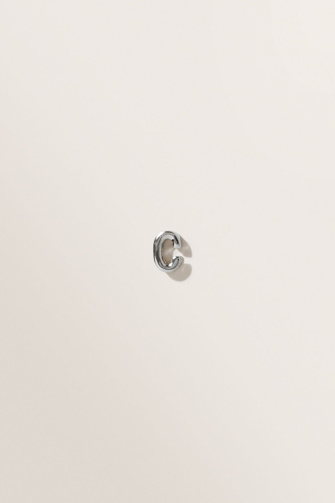 Silver Initial Charm  C  hi-res