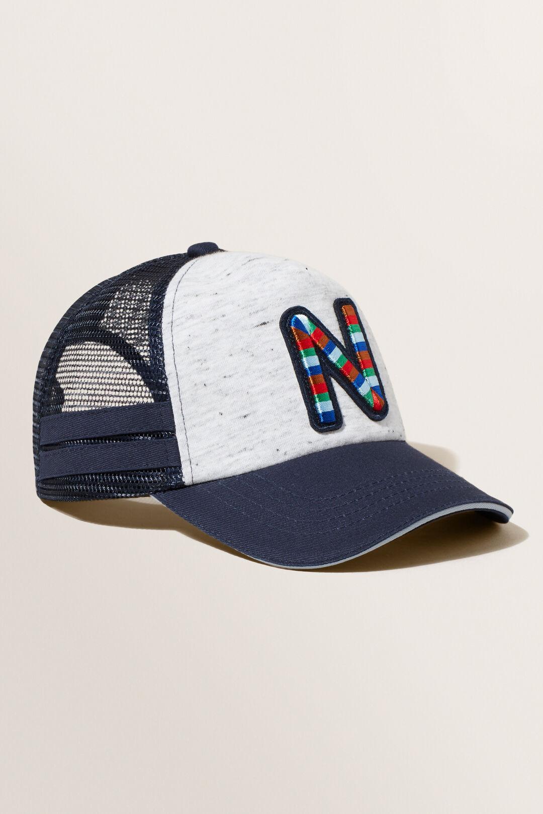 Embroidered Initial Cap  N  hi-res