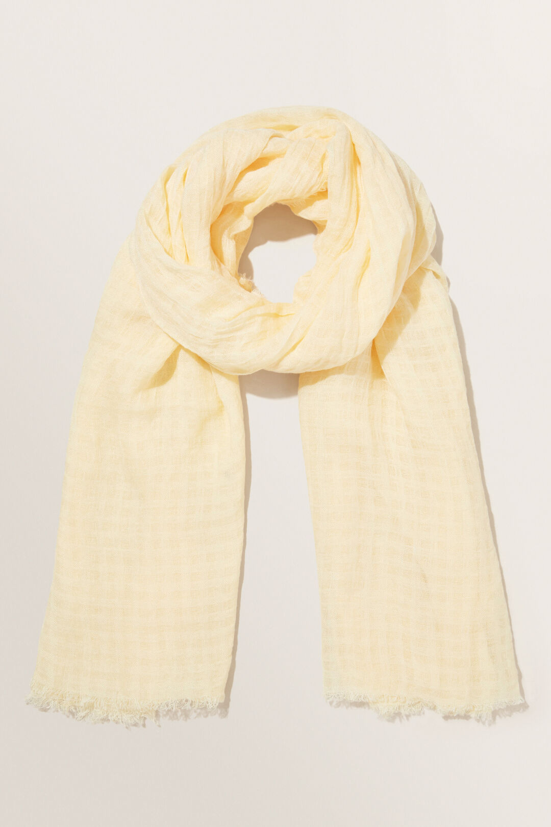 Textured Scarf  Limocello  hi-res