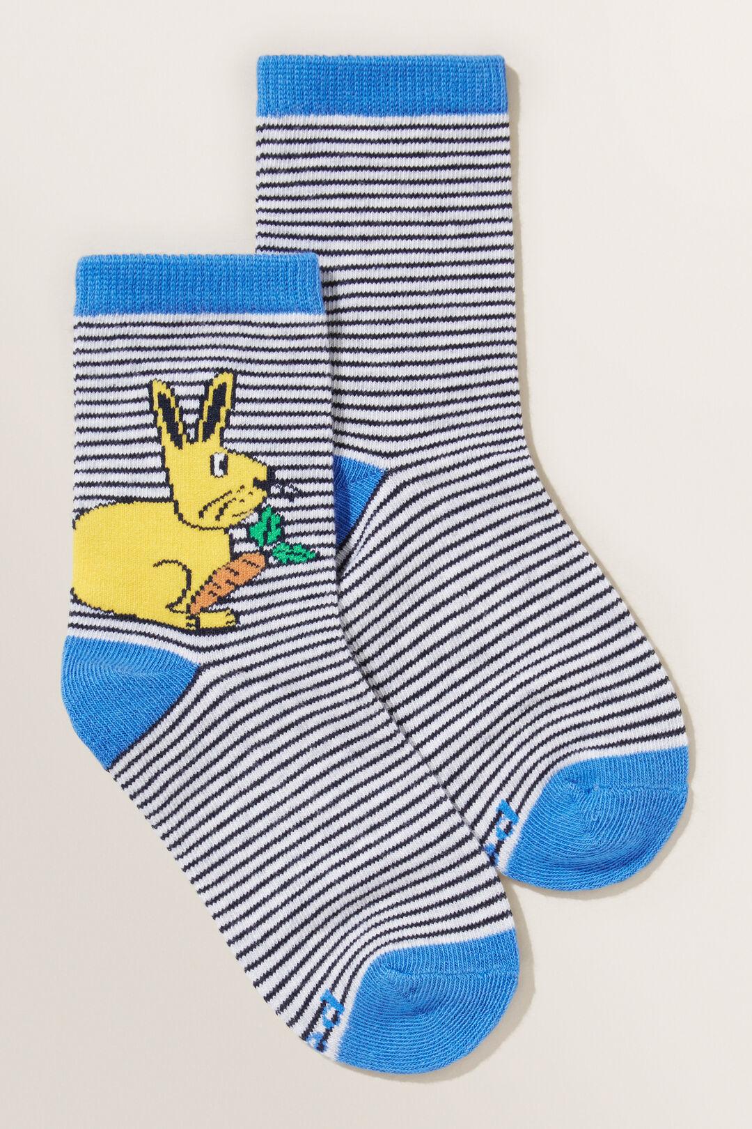 Bunny Stripe Socks  Multi  hi-res