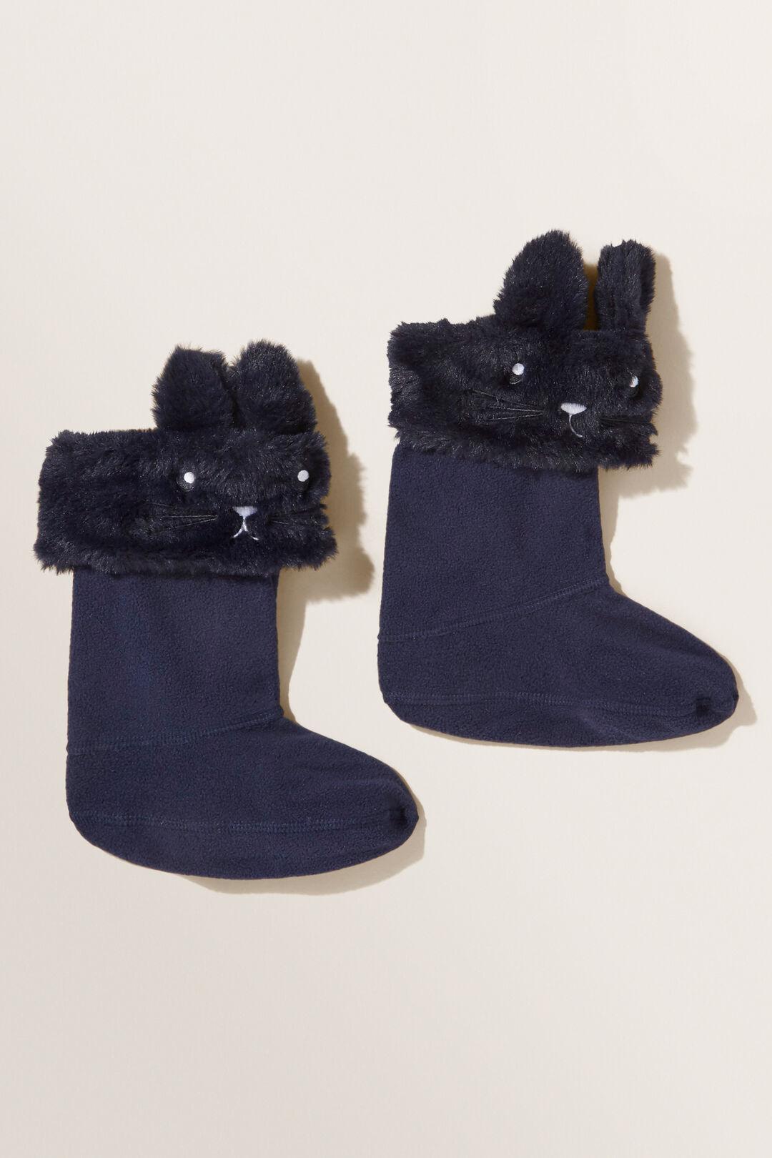 Bunny Gumboot Socks  Midnight Blue  hi-res