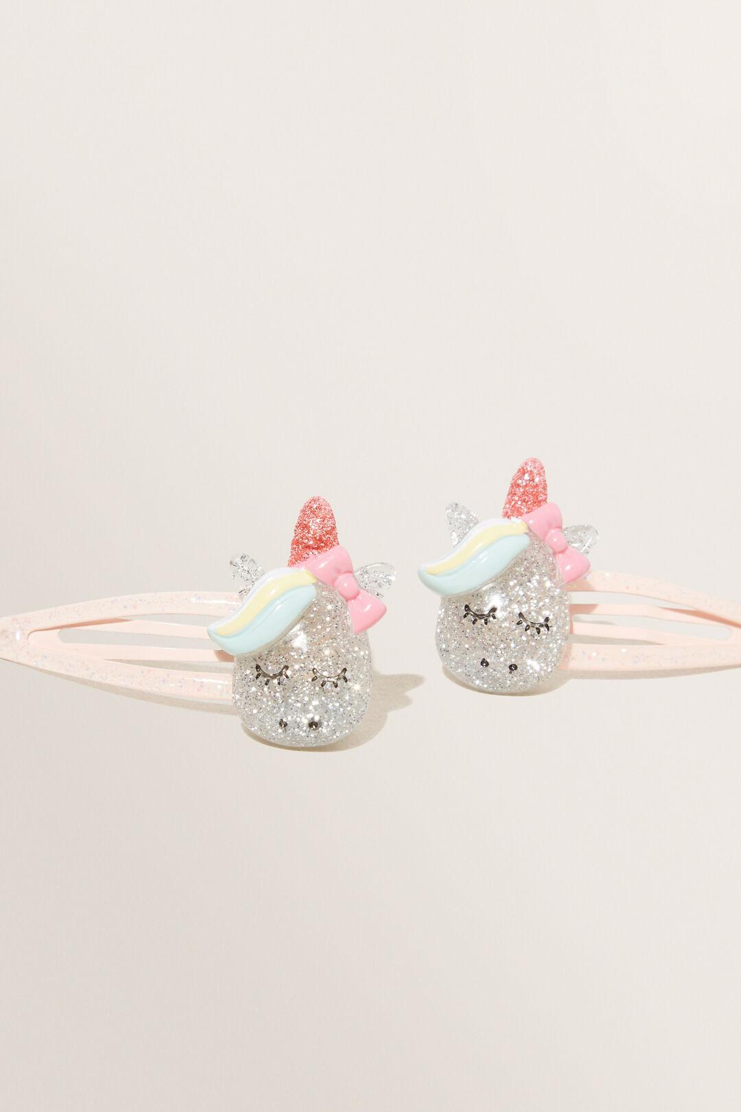 Glitter Unicorn Clips  Multi  hi-res