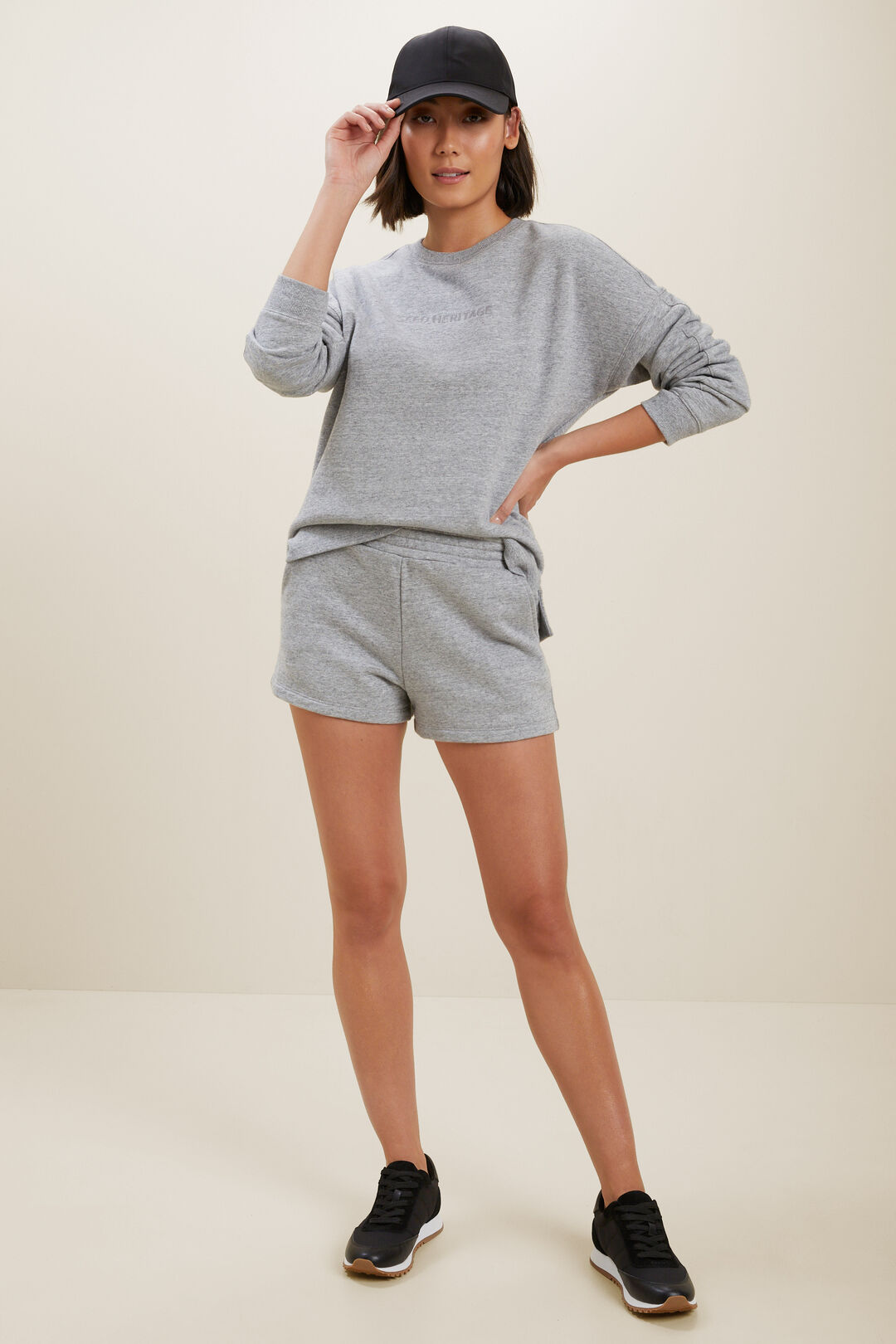 Heritage Logo Sweater  Stormy Grey Marle  hi-res