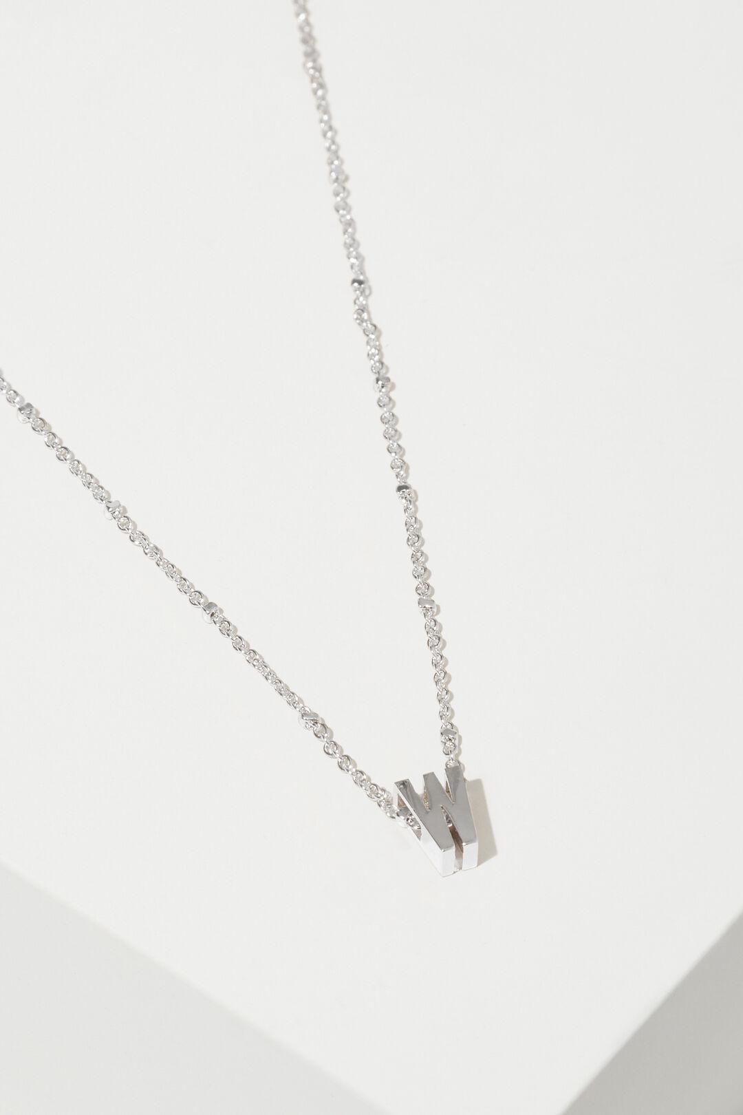 Silver Initial Charm  W  hi-res