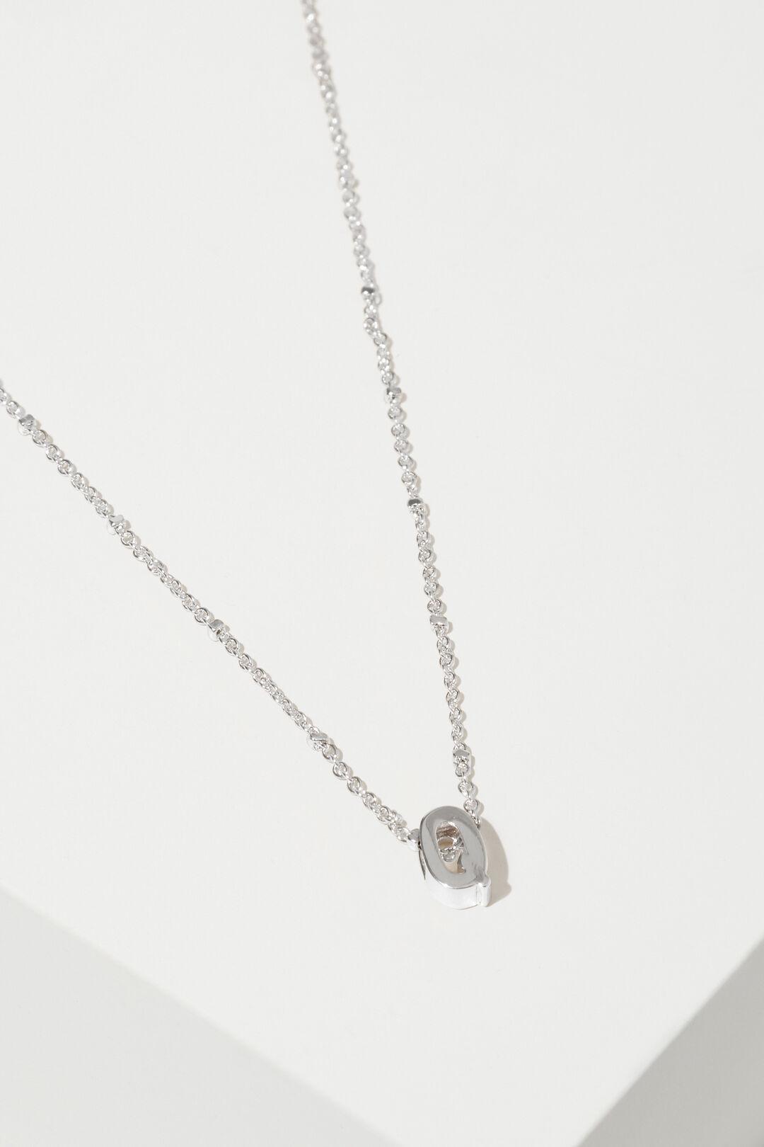 Silver Initial Charm  Q  hi-res