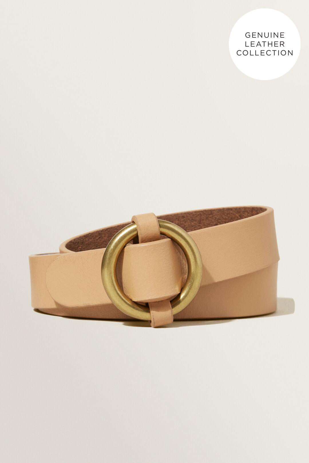 Ring Leather Belt  Peru  hi-res