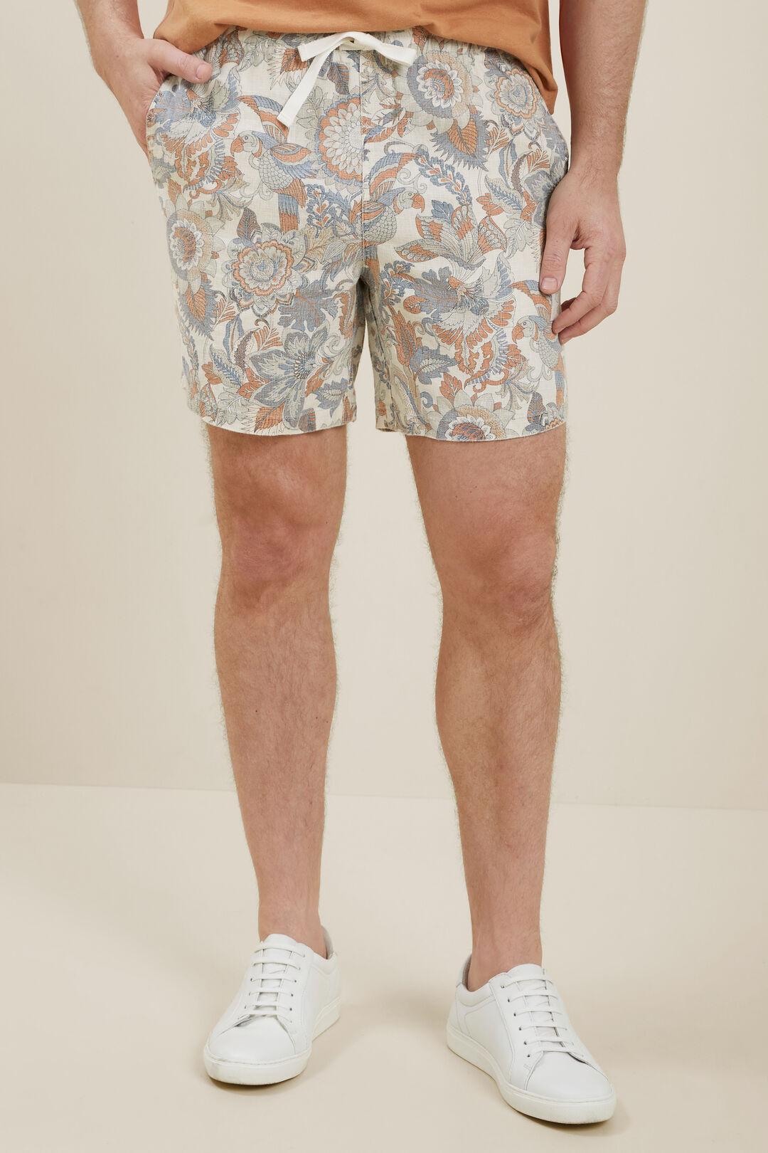 Mens Linen Shorts  Multi  hi-res