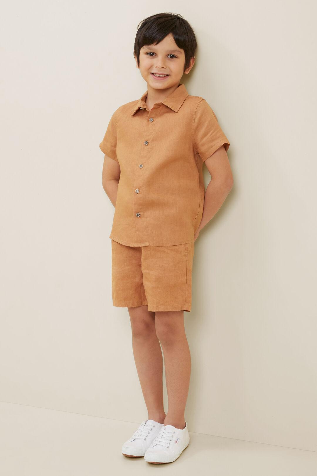 Linen Shirt  Amber  hi-res