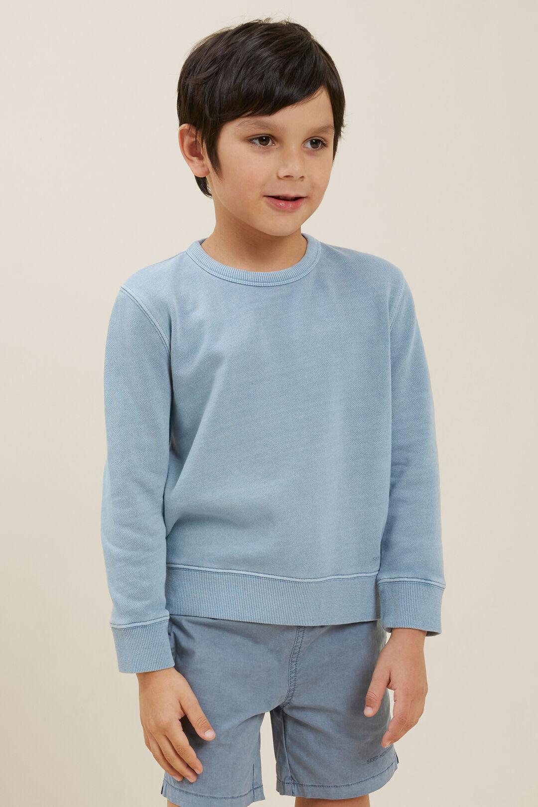 Cotton Sweater  Steel Blue  hi-res
