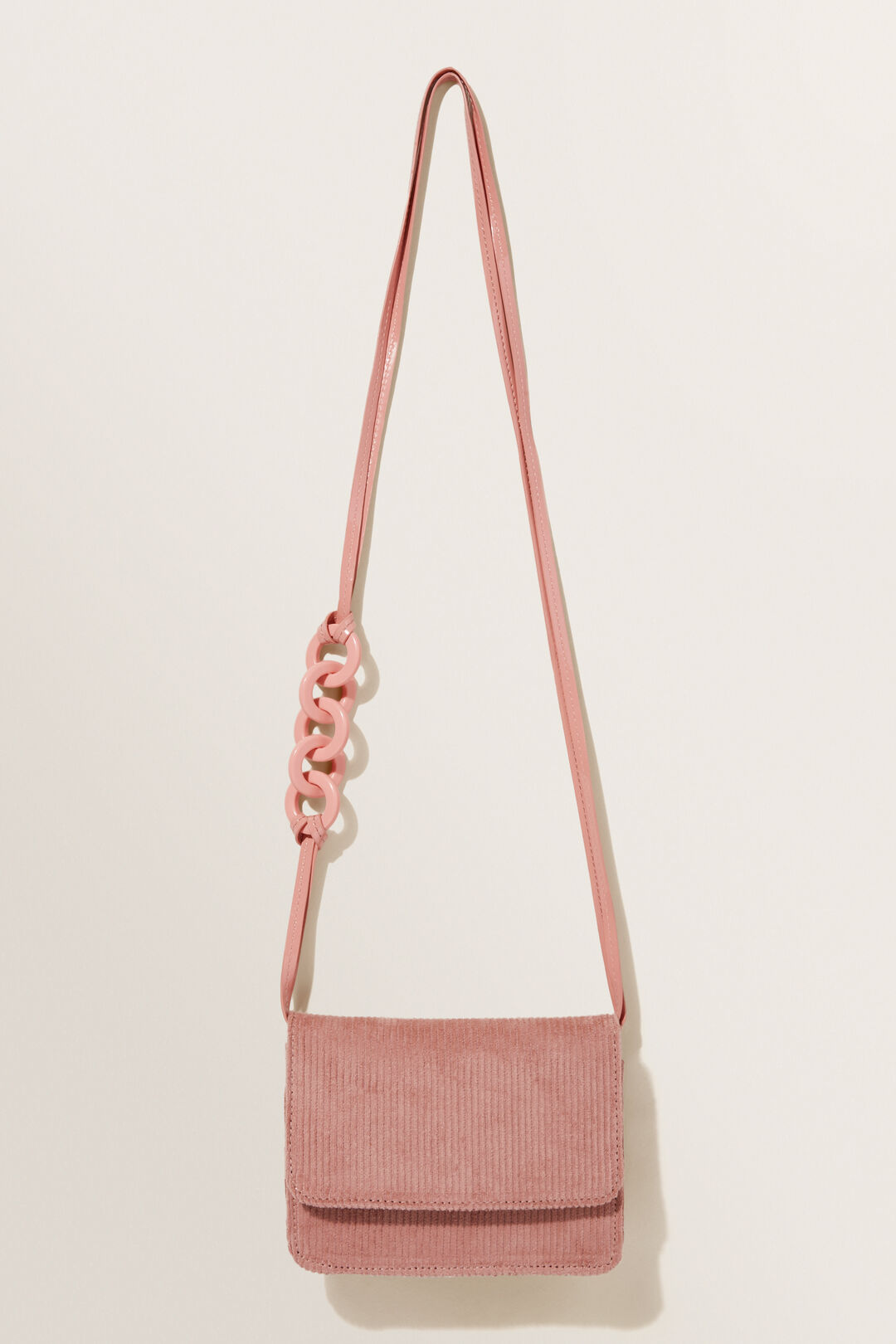 Corduroy Cross Body Bag  Rose Pink  hi-res