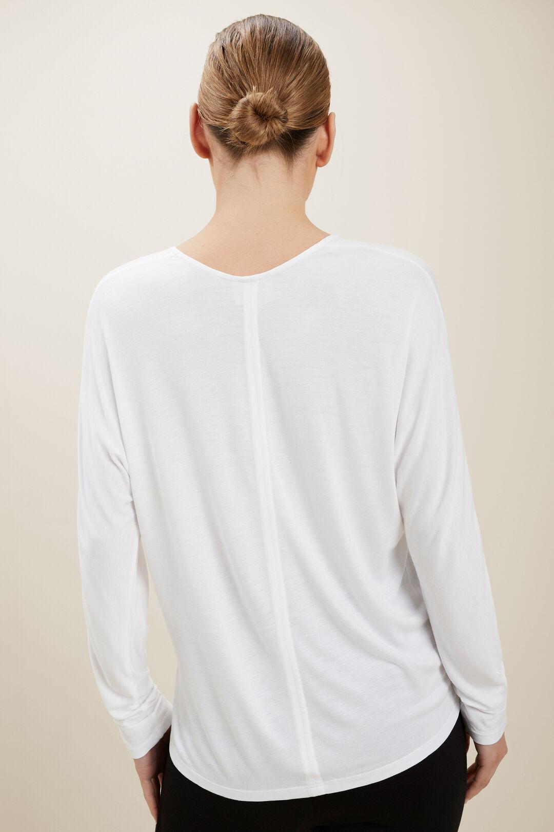 Modal V Neck Top  Whisper White  hi-res