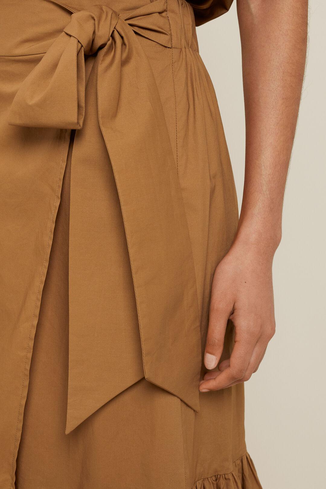 Poplin Wrap Maxi Skirt  Sienna Brown  hi-res