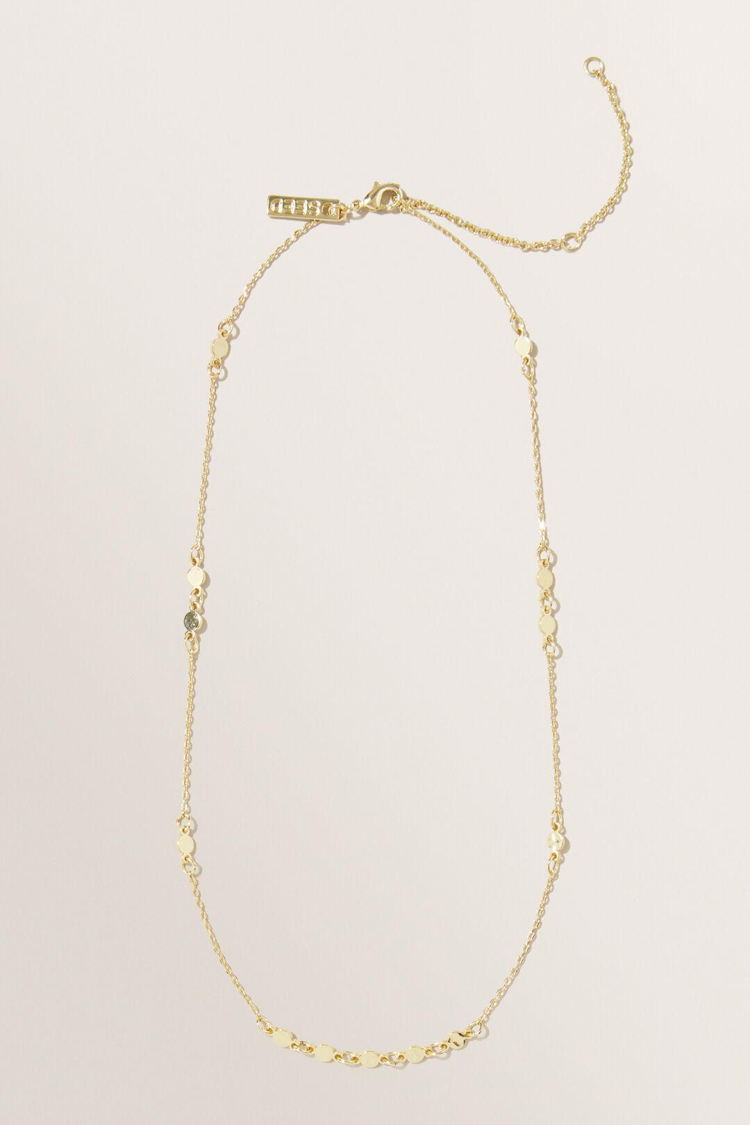 Fine Dot Necklace  Gold  hi-res