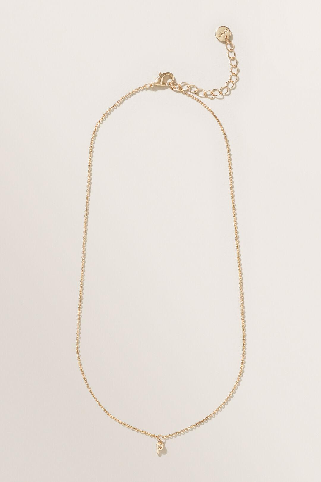 Initial Necklace  P  hi-res