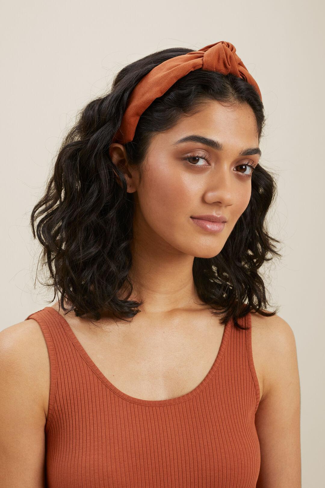 Linen Headband  Earth Red  hi-res