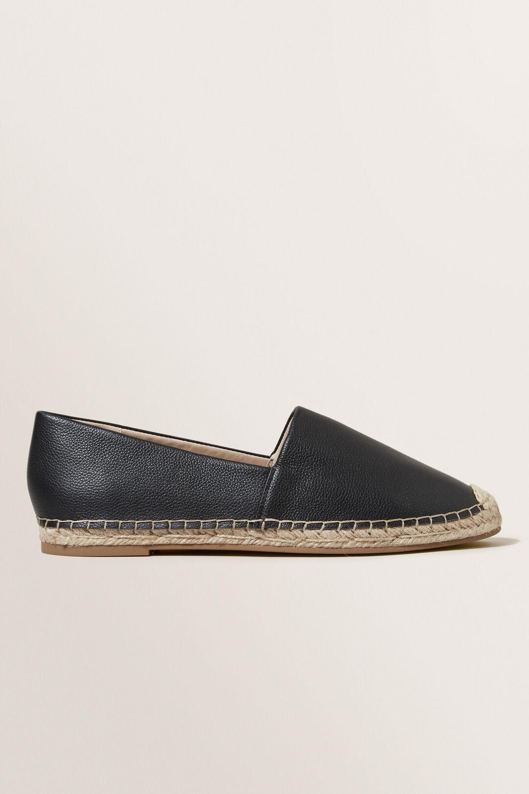 Leather Espadrille  Black  hi-res