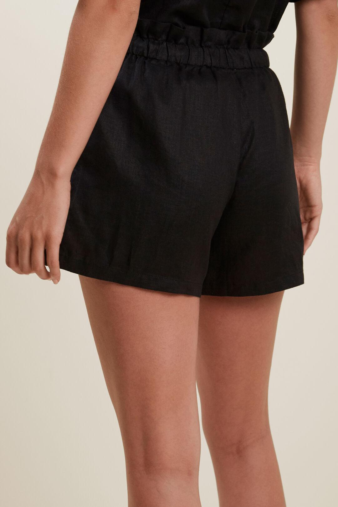 Core Linen Tie Up Short  Black  hi-res