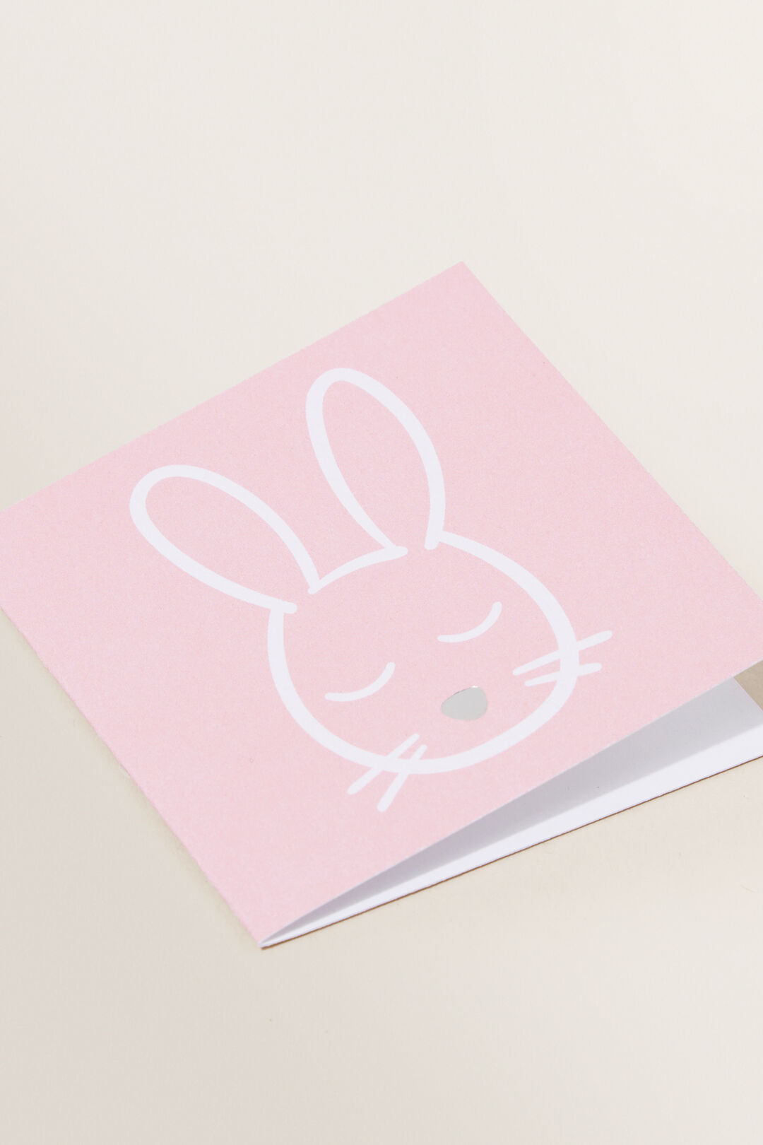 Small Pink Bunny Face Card  Multi  hi-res