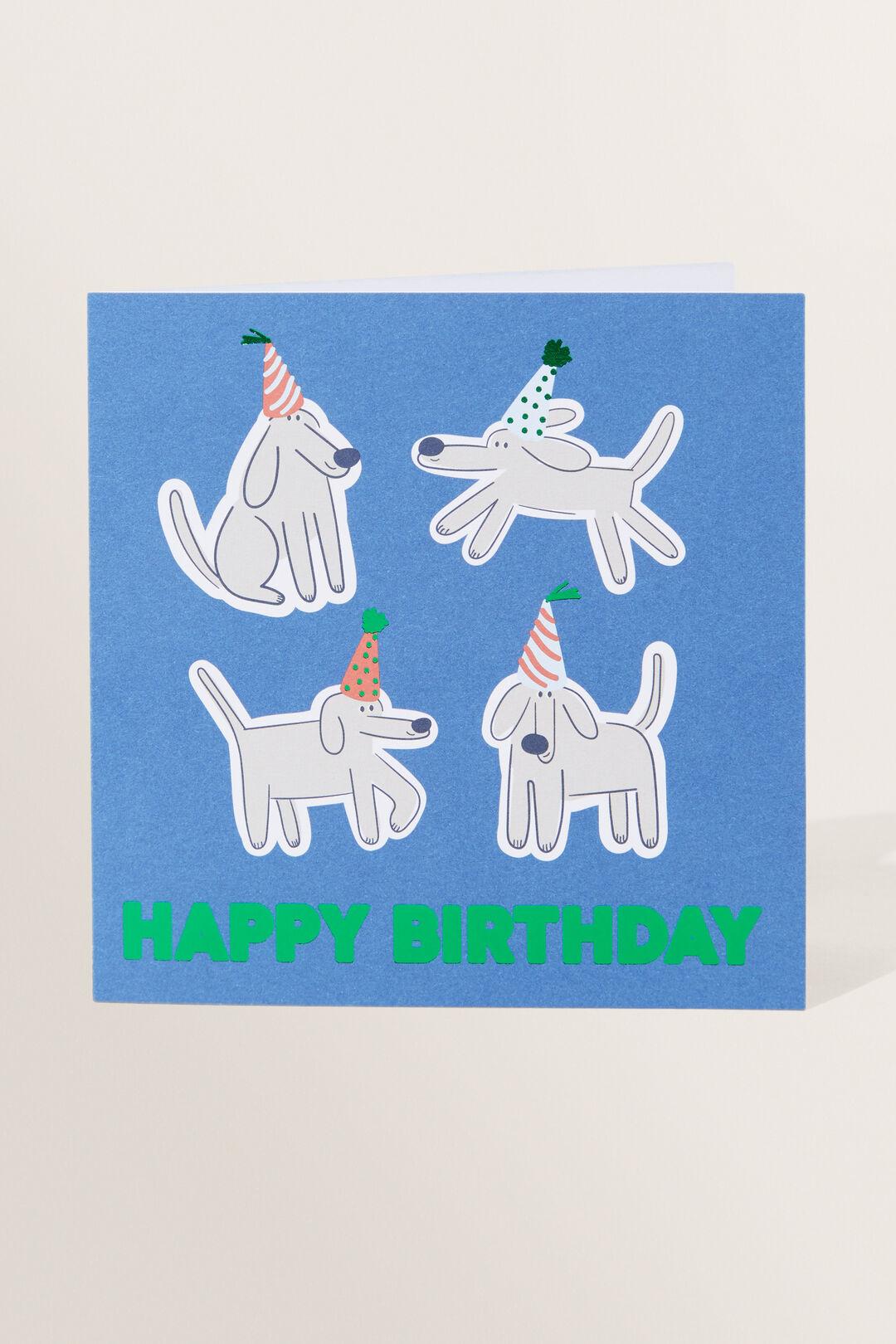 Large Dog Birthday Card  Multi  hi-res