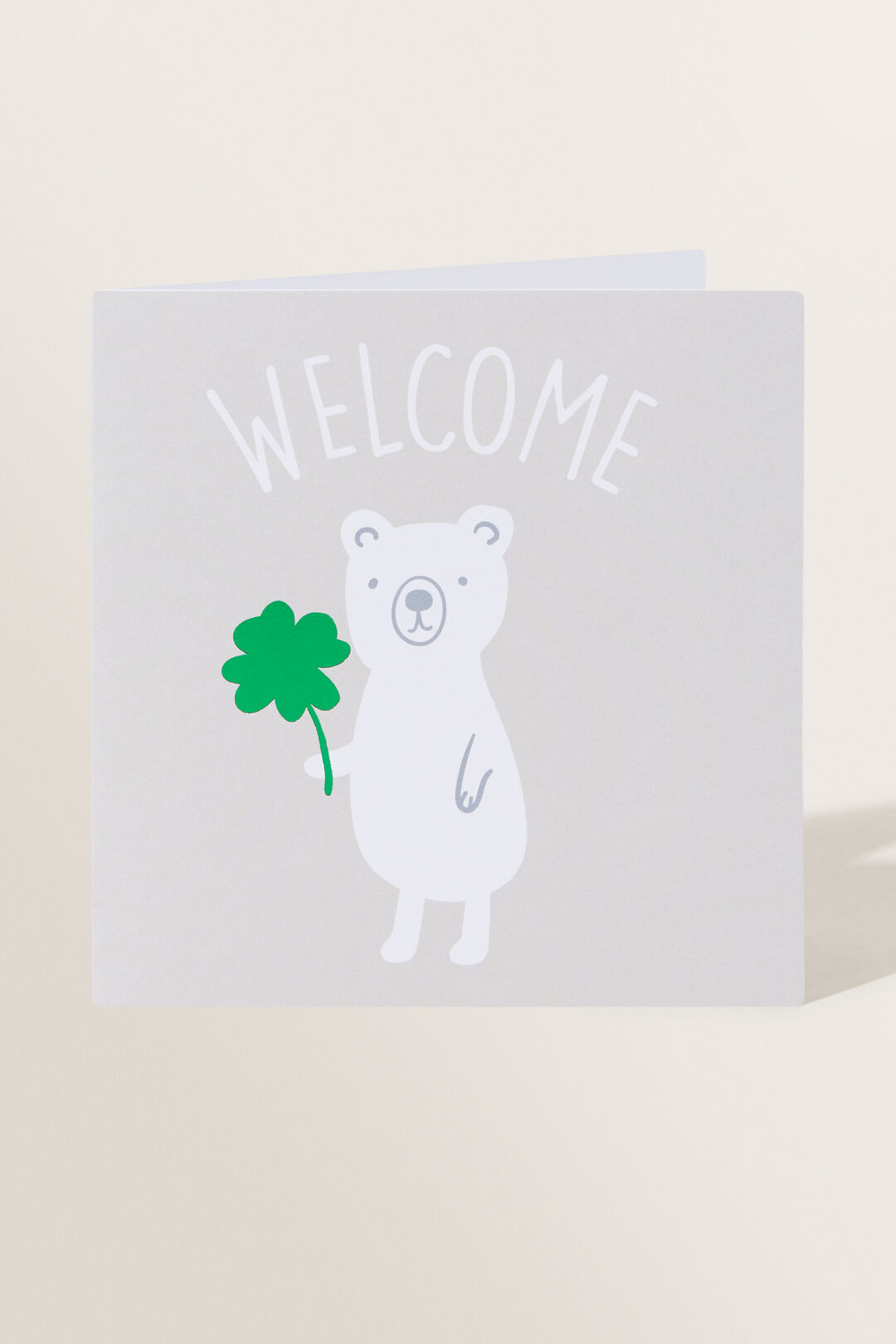 Large Baby Bear Welcome Card  Multi  hi-res