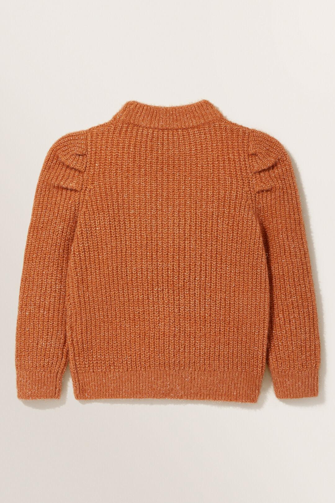 Puff Knit Sweater  Cinnamon  hi-res
