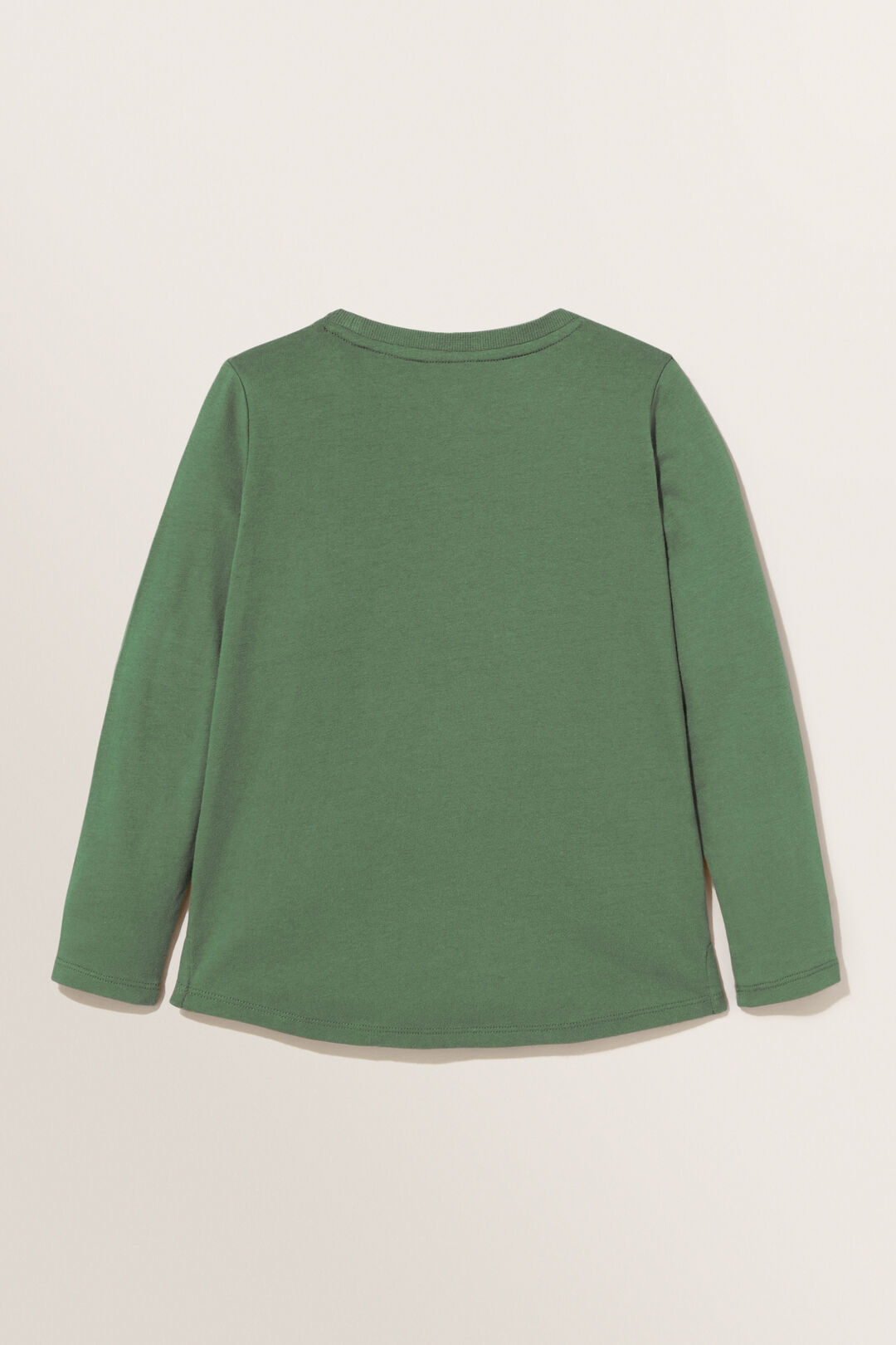 Basic Long Sleeve Tee  Hunter Green  hi-res